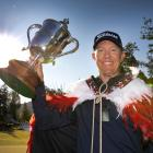 Australian Brad Kennedy celebrates winning the 2020 New Zealand Open. PHOTO: BRETT PHIBBS...