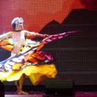 Belly dancer Bee Sadala performs at the RenewArt 2020 showcase at the Queenstown Events Centre on...