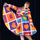 Otago Girls' High School pupil Bridget Dalley (18) models her national fashion award-winning...