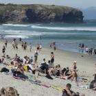 People were flocking to Dunedin's beaches on the first day of the long weekend. Photo: Gerard O...