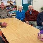 Age Concern Otago members (from left) Keith Williamson, Syd Pledger, Noeline Pocklington, John...