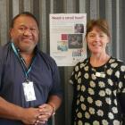 South Dunedin-based Community Finance worker Lloyd Maole and team leader Mel Aicken in their new...