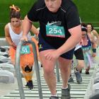 Jason Crutchley takes part in the My Step Up Challenge at Forsyth Barr Stadium in Dunedin...