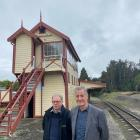 Rail Heritage Trust of New Zealand executive officer Barry O'Donnell (right) and South Island...