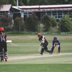 Canterbury captain Frances Mackay plays a shot on her way to a huge hundred during a one-day game...