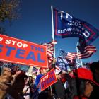 """Donald Trump supporters take part in a """"Stop the Steal"""" protest in Washington. Photo: Reuters"""