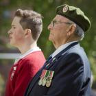 Dartanyon Richards and his great-grandfather, former 4th Battalion member Charlie Boyes, both of...