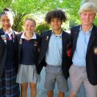 The new 2021 school leaders at Ashburton College (from left) Easterlin Faamausili, Millie...
