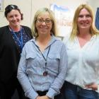 On the the first day at the new sexual health clinic are (from left) Sheree Kershaw, Dr Sue...