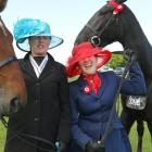 While Jenna Kelly (left) and Arlo pose, Minnie Mows gives Saria Hellyer a love tap while the...