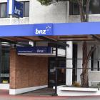 Police were called to the BNZ on Gordon Rd about midday. Photo: Peter McIntosh