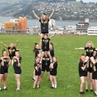 Eclipse Cheerleading members celebrating a win at nationals are, left group: Jessica Clark (9) is...