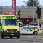 Emergency services at the scene of the crash in Oamaru. Photo: Kayla Hodge