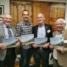 Federated Farmers North Canterbury president Cam Henderson (second left) and life members Malcolm...