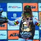 Dunedin's Courtney Duncan celebrates winning the Women's World Motocross Championship title for a...