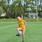 Southern United striker Emily Morison (21) at team practise at Logan Park yesterday. PHOTO: LINDA...