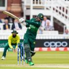 Fakhar Zaman in action at the 2019 Cricket World Cup in England. Photo: Getty Images