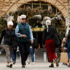 People walk without masks in central Melbourne. Photo: Getty