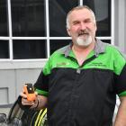 Southland Locator Beacon Charitable Company chairman John Munro with one of the locator beacons...