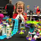 Lily Sargent (5) was the youngest exhibitor at the Southland Brick Show in Invercargill. PHOTO:...