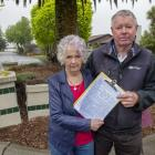 Jo Dickson and Maurice Grant started the petition. Photo: Geoff Sloan