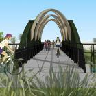 Construction on three new pedestrian and cycleway bridges across the Avon River is set to start...