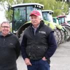 Tractor rally organisers Bryce McKenzie, of Pomahaka, (left) and Laurie Paterson, of Greenvale,...