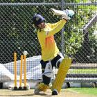 Otago batsman Josh Finnie gets in some practice during an optional net session at the University...