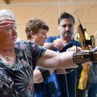 Blind Low Vision NZ member Glenda Drummond, from Dunedin, joined about 30 others in Invercargill...
