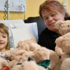 Penny Smith (left) had a teddy-bear delivery at the Southland Hospital children's ward from...
