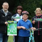 Excited about the new On Ya Bike programme rolled out in Oamaru yesterday are (from left) Waitaki...