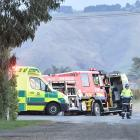 This photo, taken by the Otago Daily Times on the day of the crash, was used at trial to show the...