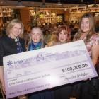 Impact100 Wakatipu grants committee chairwoman Joan Kiernan (left), with founder Kristen Holtzman...