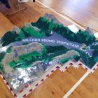 This topographically accurate map of Milford Sound is constructed entirely out of Lego. PHOTO:...