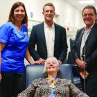 Left to right: Dunedin Hospital Emergency Department Charge Nurse Manager, Janet Andrews,...