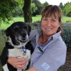 West Otago A&P Show president Fleur Barker and her dog, Jill. PHOTO: SUPPLIED