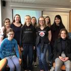 Gathered for the Programming Contest for Girls event this week are (standing, from left)...