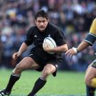 Taine Randell in action during the New Zealand All Blacks v Australia Tri-Nations match at...