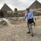 Author Tom Scott in Egypt following the footsteps of war hero Charles Upham, the subject of his...