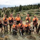 High Country Contracting wilding conifer team members (from left) Libby Cassie, Lockie Hann,...