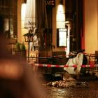 The site of the incident is secured in Trier. Photo: Reuters