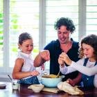 Irish-born Australian chef Colin Fassnidge prepares a meal with his 