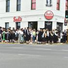 Students graduating last week were out and about with family and friends after the ceremonies...