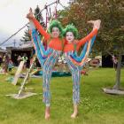 Enjoying a day out at Holsym Festival in Alexandra on Saturday are Anna Brunt (13, left) and June...
