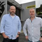 Greg and Mark Fahey outside their new Bison offices in Kaikorai Valley Rd. PHOTO: GREGOR...