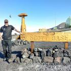Bruce Stevenson returns to Scott Base after outdoor training before Christmas this year. PHOTO:...