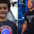 Kiwi-Samoan boy Angelou Brown has issued a powerful message, along with a gift, to Dwayne Johnson...