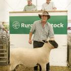 Little River farmer Ben Butterick was thrilled to receive $9200 for his Hampshire ram at an on...