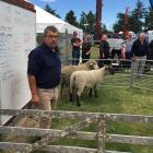 Judge Geoff Wright had the hard job of choosing the supreme champion ram hogget at the Courtenay...