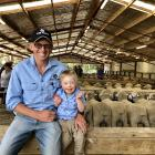 Mark Stevenson and his son Ted (5) ...